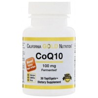 Коэнзим Q10, California Gold Nutrition, 100мг 30 капсул (США)